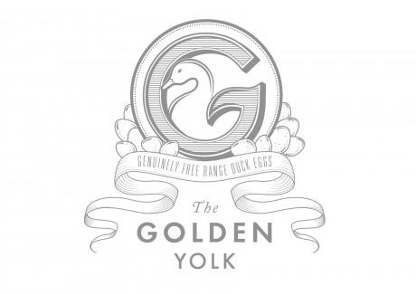 golden, folk, free range, duck egg, eggs, packaging, logo, identity, brand, branding, development, design, graphic, vector, leaves