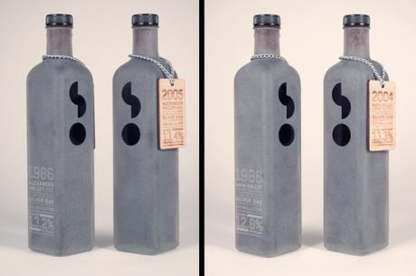wine packaging, ryan anthony wolper, silver oak, wine, cellars, frosted, glass, sandblasting, rustic, packaging, branding, identity