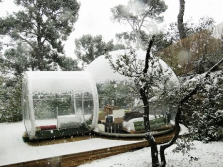 crystal, bubble, portable, hotel, temporary, accommodation, french, design, architecture, economical, eco, low energy, Pierre Stephane Dumas