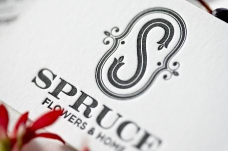spruce, flowers, floral, identity, branding, brand, logo