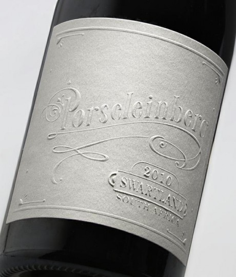 fanakalo, porseleinberg, wine, south africa, south african, design, letterpress, label, alcohol, packaging, emboss, embossing, white