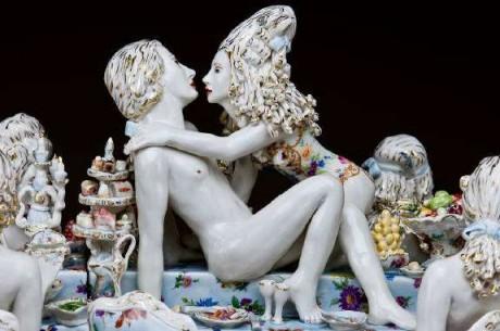 chris antemann, porcelain, sexual, lust, gluttony, figures, porcelain figurines