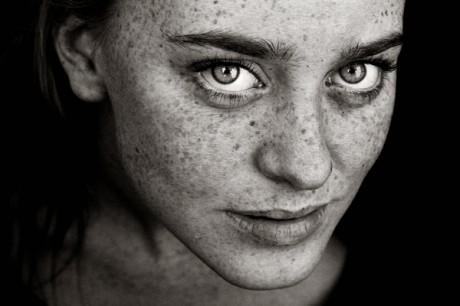 hannes caspar, photography, freckles, women, black white, nudes