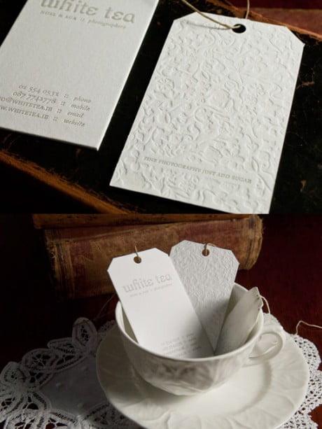 white tea photography, business card, luxe cetera, letterpress, branding, logo, stationary, identity