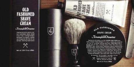 triumph & disaster, shaving products, shaving product, old fashioned, branding, identity, logo, packaging
