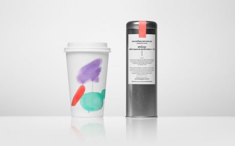 anagrama, bonnard, tea shop, confectionary shop, gold foil, pastel colour, pastel colours, brush strokes, patisserie, macaroons, identity, branding, logo, business card, stationary, take-away cup, packaging