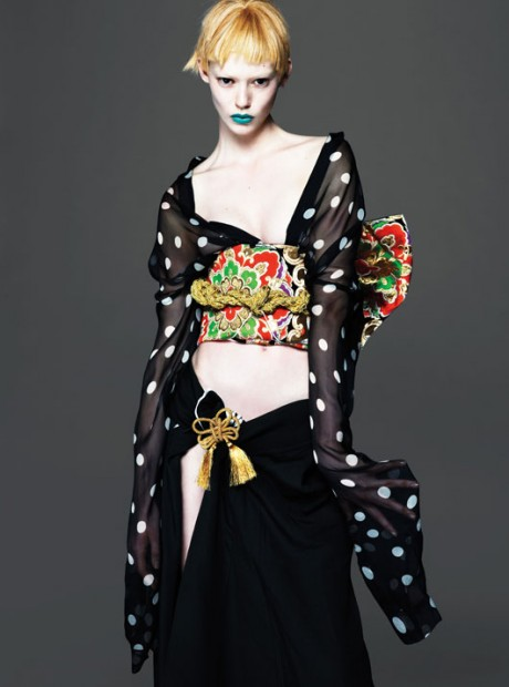 W, magazine, March 2013, Photography, mert & marcus, editorial, Mert Alas & Marcus Piggott, Model,Ondria Hardin, Saskia de Brauw, Xiao Wen Ju, Yumi Lambert