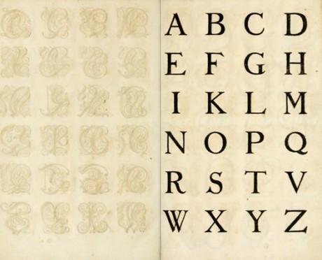 german book, calligraphy, writing, typography, letter form, experimental typography, Nurnberg , The Proper Art of Writing, initial, initials, capitals, latin, italian font, Kunstrichtige Schreibart, Bey Paulus Fürsten Kunsthändlern daselbst,
