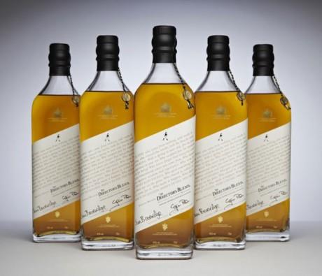 Limited Edition, Johnnie Walker, Director Blend, jim beverage, label design, packaging, bottle design, slanted label, label angle, angles label,
