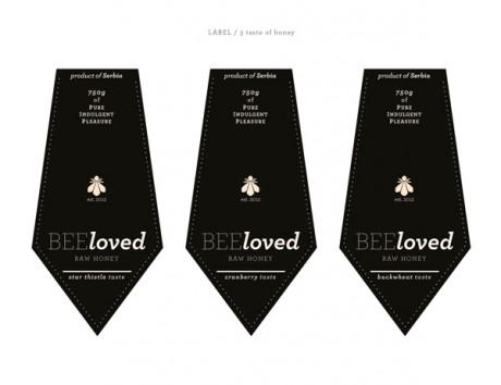 honey, branding, identity, packaging, bottle design, bottle, label design, logo, Tamara Mihajlovic, beloved,