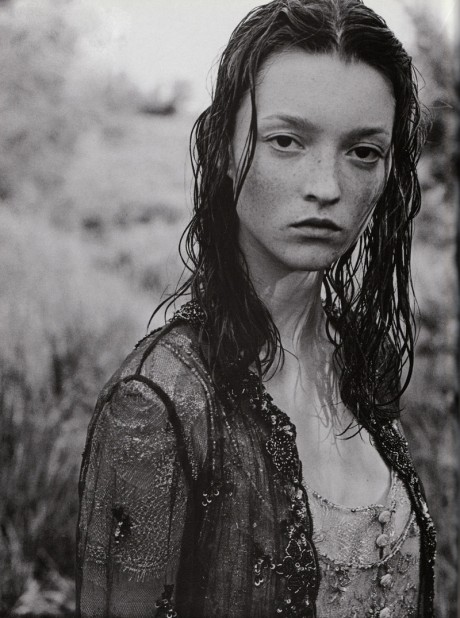 Audrey Marnay, model, Peter Lindbergh, The Bohemian Couture, photographer, Vogue, Vogue Italia,