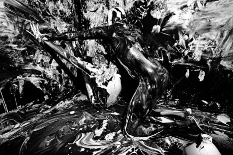Ataui Deng, model, photography, body art, body paint, paint, photographer, Mario Sorrenti, Purple, Fashion, Magazine, #19, Spring 2013