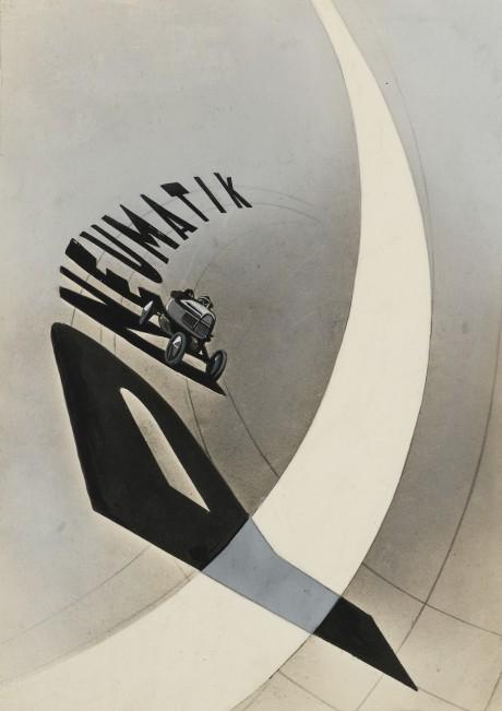 moholy nagy laszlo, pneumatik, 1924, graphic design, poster