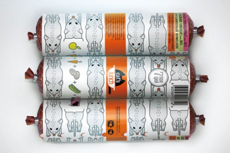 cats lunch, cat's lunch, cat sausage, Istratova Alexandra, Russia, petfood, pet food, pet packaging, packaging, sausage packaging, unwrappable, unwrap