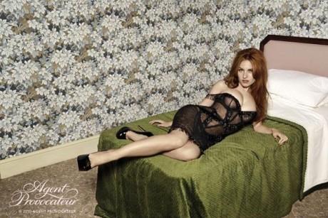 agent provocateur, advertising campaign, advertising, video, josephine de la baum, actress, model, red head
