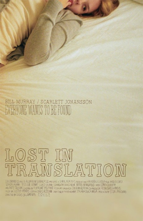 poster, film poster, movie poster, actress, actor, director, director, Sofia Coppola, Lost In Translation, Scarlett Johansson, Bill Murray