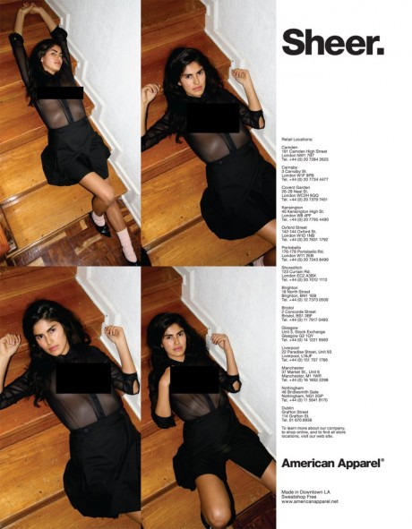 american apparel, advertising, banned, banned in the uk, lingerie, sex sells, fashion, controversy