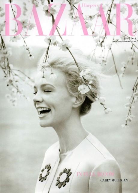 UK, fashion, magazine, magazine cover, Harper's Bazaar, June 2013, Carey Mulligan, actress, photography, Tom Allen