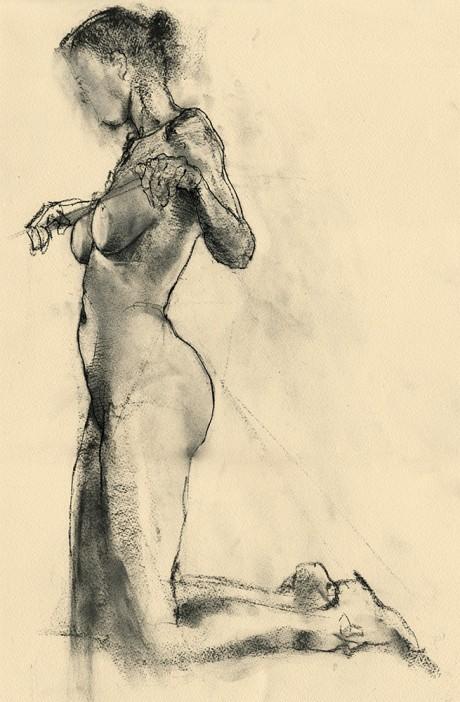 david smith, life drawing, sketch, illustration, pencil, nude