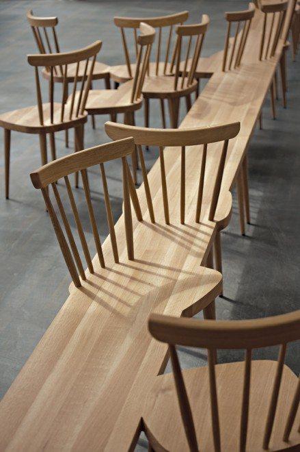 public seating, Yvonne Fehling, Jennie, Peiz Design Studio, wood, wooden, furniture, chair