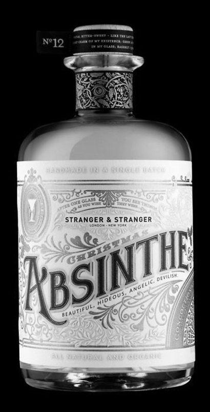 stranger & stranger, drink, alcohol, spirits, packaging, absinthe, spirit no.13, vintage, graphic design, typography