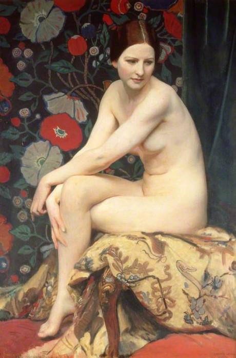 george spence watson, nude, 1927, oil painting, art
