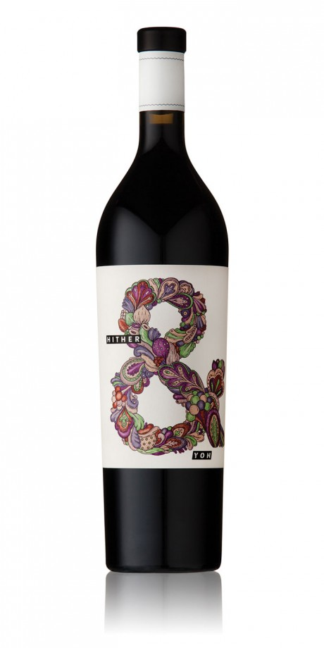 Voice, Hither & Yon, McLaren Vale, wineyard, illustration, wine label, typography, experimental typography, Richard Leask, Malcolm