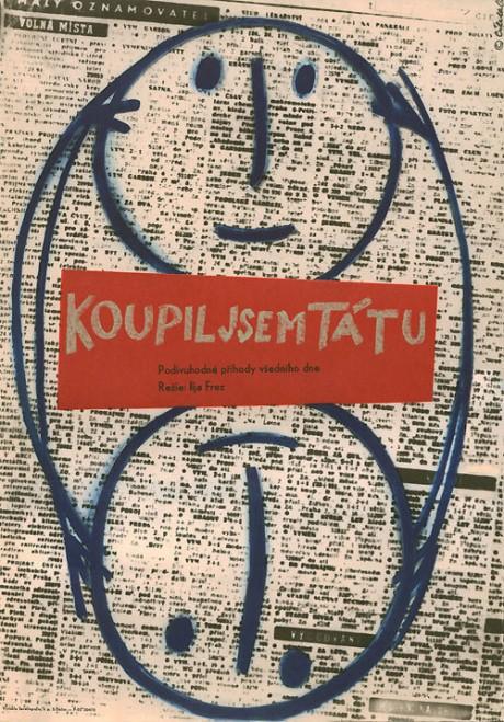 Czech, film, film poster, movie poster, illustration, poster, I Bought A Father, director, Ilya Frez, USSR, 1963