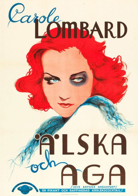 love before breakfast, carole lombard, film, movie, movie poster, film poster, illustration, walter lang, director, actress
