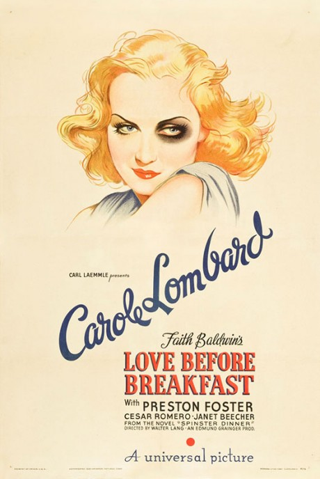 love before breakfast, carole lombard, walter lang, 1936, movie poster, film poster, film, poster