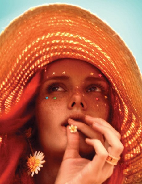 The Light Fantastic, summer, model Jasmin Jalo, model, Chuando And Frey, photography, fashion, colour, red hair, redhead, Singapore L'Officiel, magazine, May 2013
