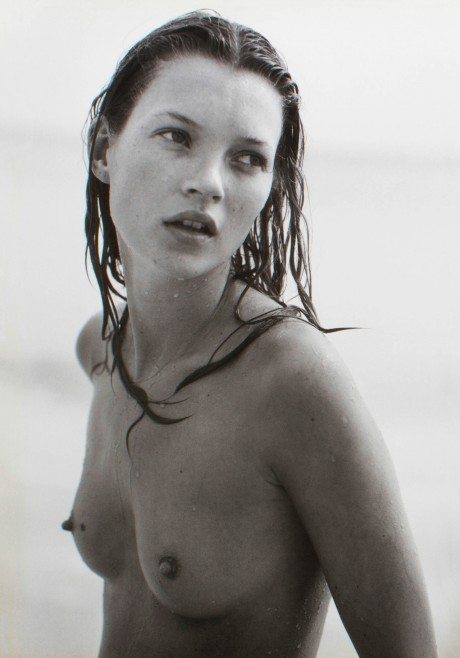 kate moss, naked, breasts, fashion, model, icon, supermodel, portrait, bruce weber, photographer