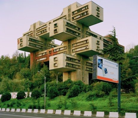 The Bank of Georgia, Tbilisi, Georgia, George Chakhava, Zurab Jalaghania, Ministry of Highways, Space City, architecture, architects, Le Corbusier, Frank Lloyd Wright, Fallingwater, Jean Nouvel, Musee du quai Branly, Paris,