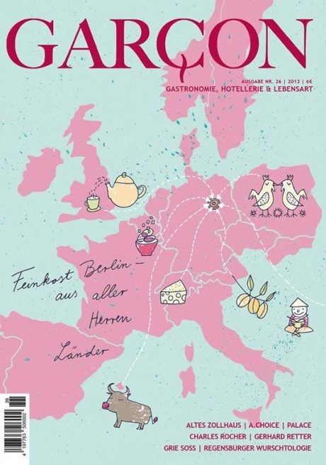 garcon, magazine, magazine cover, food, travel, art, illustration
