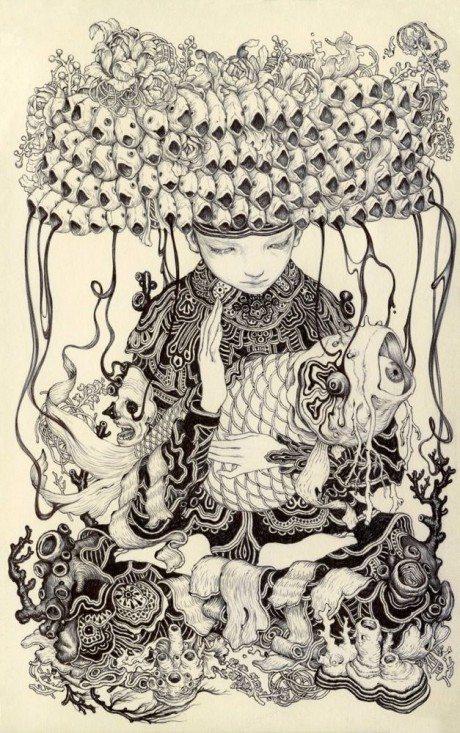 james jean, illustrator, illustration, erotic, sketch, drawing, artist, explicit