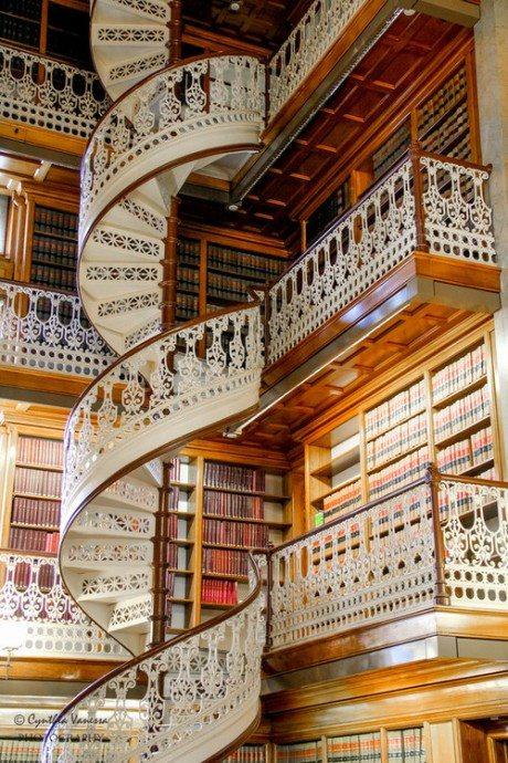 Law Library, Des Moines, Iowa, architecture, interior, books, library