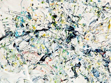 Mark Lovejoy, painting, printing press, inks, printing ink, marble effect
