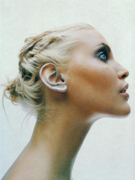 Nadja Auermann, model, supermodel, photography, beautiful, portrait, Mario Sorrenti
