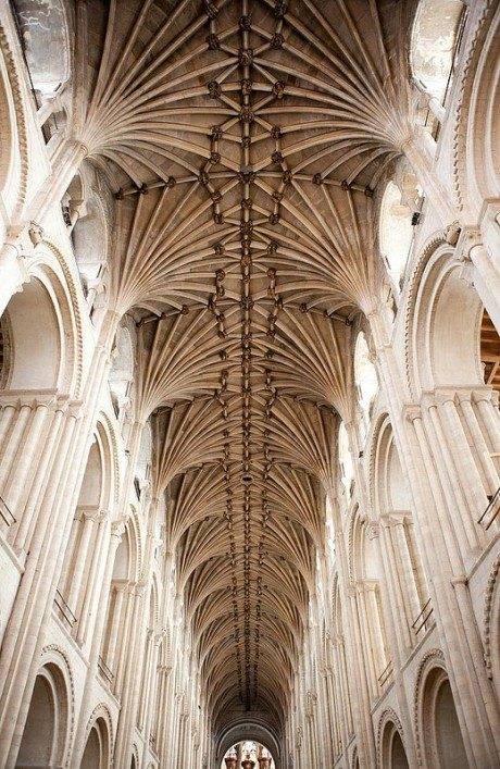 Lierne vault, norwich cathedral, religion, church, architecture, interior, nave, from Creation to Samson, c. 1470, Norwich Cathedral, England