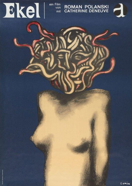 Germany, Repulsion, Catherine Deneuve, director, Roman Polanski, UK, 1965, artist, illustration, poster, film poster, movie poster, Jan Lenica, 1928-2001