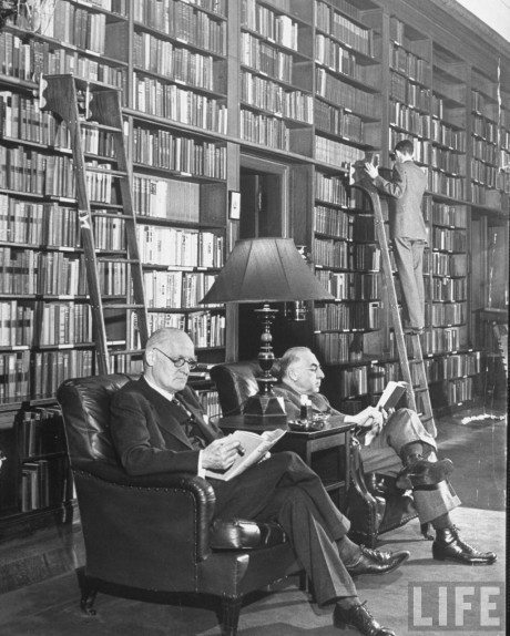 library, The Harvard Club, New York, 1940, photography, Alfred Eisenstaedt, books, black & white