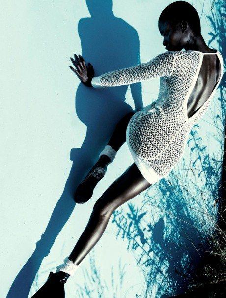 'Cocoon, editorial, fashion, model, black, coloured, Jeneil Williams, photography, Julia Noni, vogue Germany, September 2013