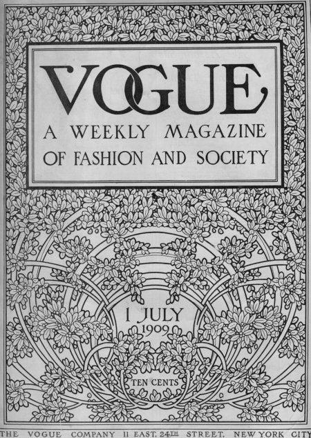 vogue, july 1909, fashion, magazine, magazine cover, illustration