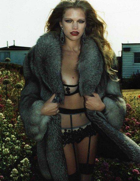 Valerie van der Graaf, model, fashion, editorial, photographer, stockings, sexy, naked, Jonathan Hallam, Schon, September 2013