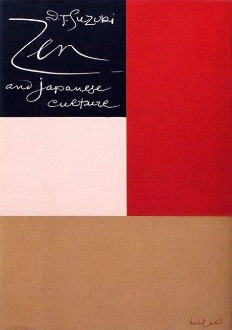 d. t. suzuki, zen and japanese culture, japan, book cover, illustration, graphic design, designer, paul rand