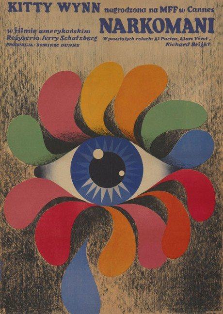 1972, Polish, movie poster, film poster, illustration, poster, THE PANIC IN NEEDLE PARK, Jerry Schatzberg, USA, 1971, Designer, Tomasz Ruminski, 1930-1982)