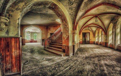 stairs, stairway, interior, interior architecture, architecture, abandoned,