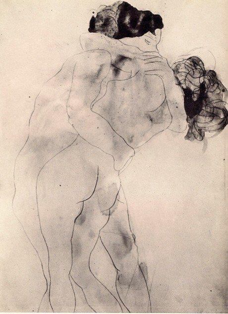 Auguste Rodin, sketch, illustration, art, artist, watercolour, figurative, two women