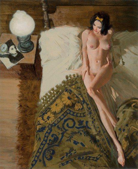 Robert McGinnis, illustration, nude, pin-up, pin up, pulp