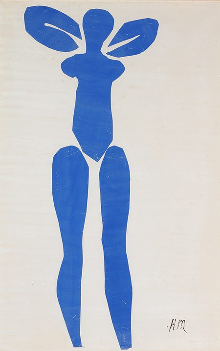 Blue Nude, 1952, Henri Matisse, Metropolitan Museum of Art, art, illustration, blue, nude,